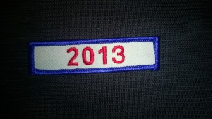 2013 year patch